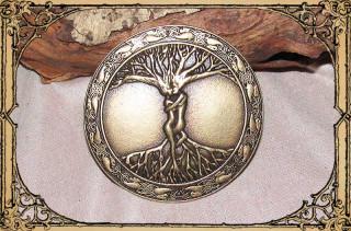 "Buckle ""Baum des Lebens"" Altmessing"