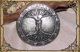 "Buckle ""Baum des Lebens"" Altsilber"