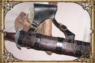 Schwertscheide braun/schwarz