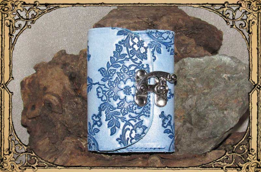 Kleinbörse Floral Blau