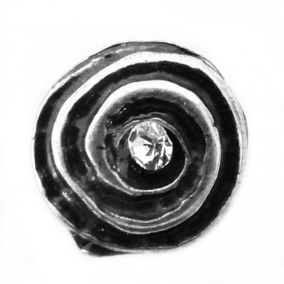 """Zierniete """"Spirale"""" Altsilber-weiss"""