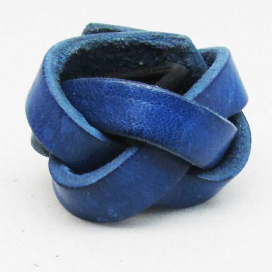 """Haarleder """"Geflochten"""" Blau"""