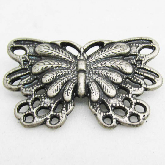 """Zierniete """"Butterfly"""" Altsilber"""